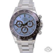 Rolex Daytona Platinum Ice Blue Dial and Brown Bezel - New 116506