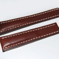 Breitling Kalbslederband für Faltschließe Dunkelbraun 24-20 mm