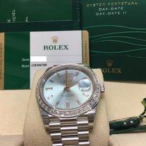 Rolex Cally - 40MM 228396TBR 11DI Day-Date 950 Platinum 冰藍 [NEW]