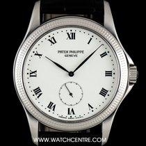 パテック・フィリップ (Patek Philippe) 18k W/G White Enamel Roman Dial...