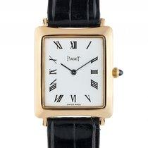 피아제 (Piaget) Classique 18kt Gelbgold Handaufzug Armband Leder...