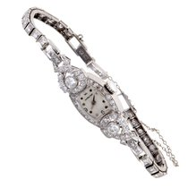 Certified Pre-Owned Hamilton Womens Antique Platinum and...