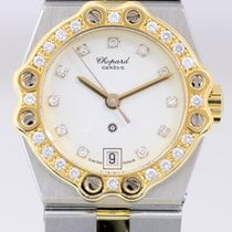 Chopard St. Moritz Lady Gold/Stahl 0.30 CT Diamonds 18K...