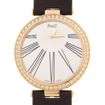 Piaget Limelight 18k Rose Gold Silver Quartz G0A36243
