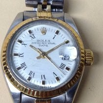 Rolex Oyster Perpetual Date Automatic Steel Gold Ladies'