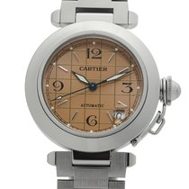 Cartier Pasha Collection Pasha C Stainless Steel 35mm Salmon...