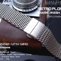 Strapcode 24mm SHARK Lug Deployant Mesh Band, Brushed