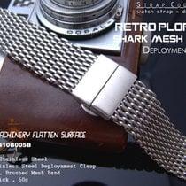 Strapcode 24mm SHARK Lug Deployant Mesh Band, Brushed