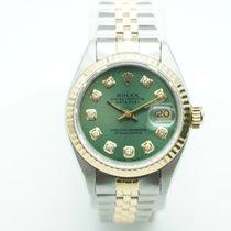 Rolex Datejust 26mm Two Tone  Green Diamond Dial Jubilee
