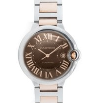Cartier Ballon Bleu Large Men's Steel & Rose Gold...