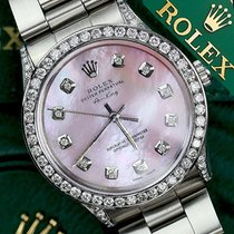 Rolex Ladies Rolex Air-king 34mm Stainless Steel Pink Mop...