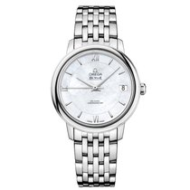 Omega DeVille Prestige Mother of Pearl Dial Stainless Steel...