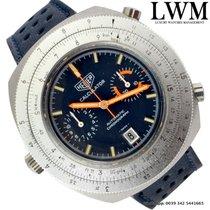 TAG Heuer Calculator 110.633 chronograph vintage blue dial  1974