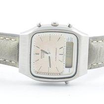 Seiko Quartz Alarm Chronograph H461 Stahl/stahl Rar Werk Defekt