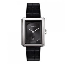 Chanel Boy.Friend Quartz Stainless Steel Black Dial Ladies...