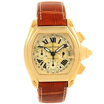 Cartier Roadster Chronograph 18k Yellow Gold Watch W62021y3...