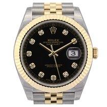 Rolex Datejust 41 Black Diamond Dial Jubilee