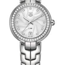 TAG Heuer Link Lady Quartz Silver Guilloché Dial and Diamonds