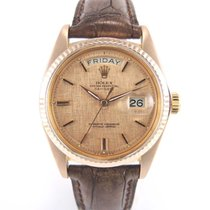 """Rolex Day-date Or rose 1803 """"cadran feuille d'or..."""