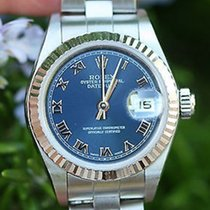 Rolex Ladies Datejust 26mm Stainless Steel 18k White Gold...