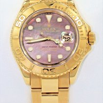 Rolex Yacht-master 16628 40mm 18k Yellow Gold Watch Tahitian...