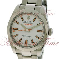 Rolex Milgauss, White Dial - Stainless Steel on Bracelet