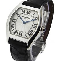 Cartier W1546151 Tortue Mens Size in Platinum - Platinum on Strap
