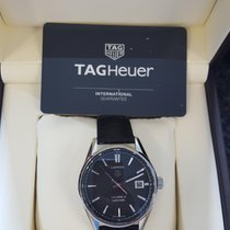 TAG Heuer Carrera Calibre 5 Stahl Automatik Armband Leder 39mm