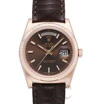 ロレックス (Rolex) Day-Date Brown/Leather Ø36 mm - 118135