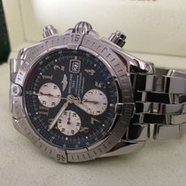 Breitling Chronomat Evolution Pilotband Steel Grey Arabic 44...