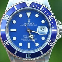 Rolex Mens Blue Submariner Stainless Steel 16610 Replacement...