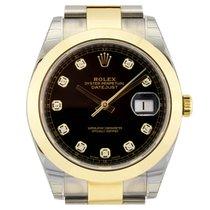 Rolex Datejust 41 Steel & Yellow Gold 126303 Black Diamond...