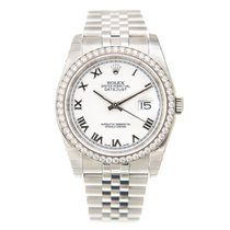 勞力士 (Rolex) Datejust 18k White Gold Diamond Steel White...