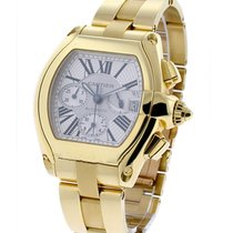 Cartier W62021Y2 Roadster Yellow Gold Chronograph on Bracelet...