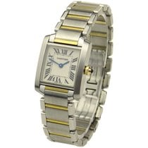 Cartier Lady Tank Francaise Steel & Gold W51007Q4