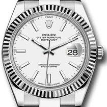 Rolex Datejust 41 126334 White Index Fluted White Gold...