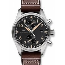 IWC IW387808 Pilot Chornograph Collectors Automatic in Steel -...