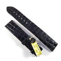 Chopard 17mm / 16mm shiny black alligator leather strap NEW