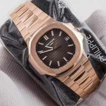 Patek Philippe Rose Gold Nautilus on Bracelet