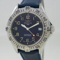 Breitling Colt Blue Dial Steel Case Blue Leather Strap