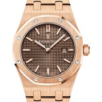 Audemars Piguet Royal Oak Quartz Rose Gold Chocolate Dial