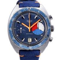 호이어 (Heuer) Skipper 73464 steel vintage chronograph