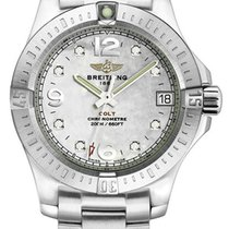 Breitling Colt 33 White MOP Dial 8 Diamonds Women Watch...