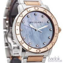 Bulgari Rose Gold and Stainless Steel Mother-of-Pearl Ladies'...