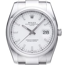 Rolex Oyster Perpetual Date 34mm Edelstahl Ref. 115200