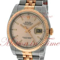 Rolex Datejust 36mm, Pink Champagne Dial, Fluted Bezel - Rose...
