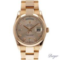 Ρολεξ (Rolex) Day-Date Everose gold/ Diamonds