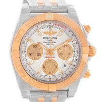 Breitling Chronomat 41 Chrono Steel Rose Gold Watch Cb014012...