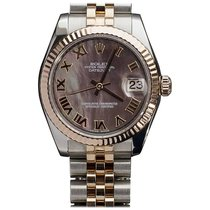 Rolex Datejust 36mm Steel and Rose Gold MOP Dial Watch