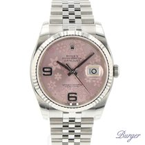 Rolex Datejust 36 Fluted Jubilee Flower Dial NEW
